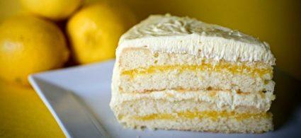 Lemon and Vanilla Curd Cake