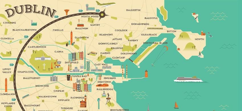 Cartina Turistica Irlanda.Mappa Di Dublino Cartina Interattiva E Download Mappe In Pdf Irlandando It