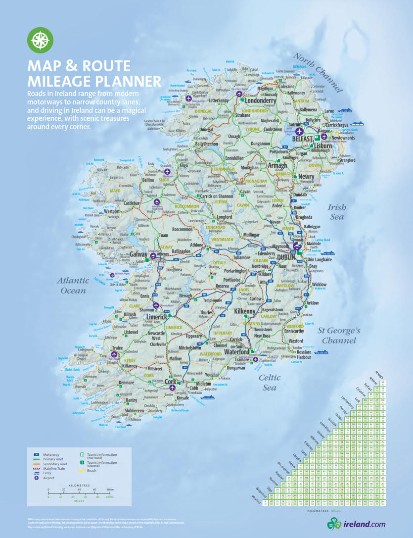 Cartina D Irlanda.Mappa Irlanda Cartina Interattiva E Download Mappe In Pdf Irlandando It