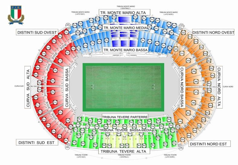 Cartina Stadio Olimpico Roma.Stadio Olimpico Di Roma Irlandando It